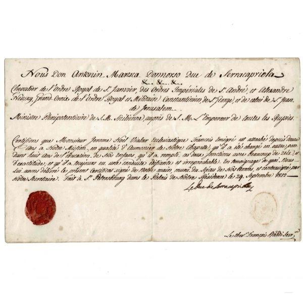 duc de Serracapiola Jérôme Noël VIALAR