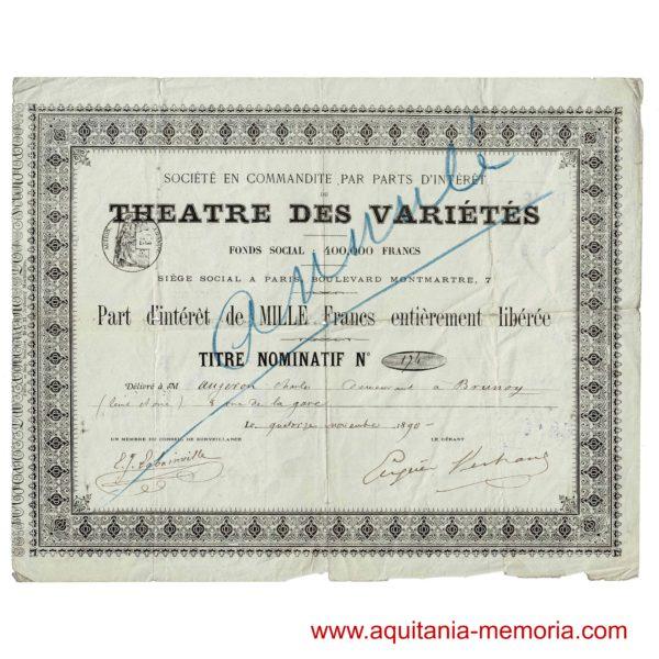 Théâtre des Variétés Eugène Bertrand