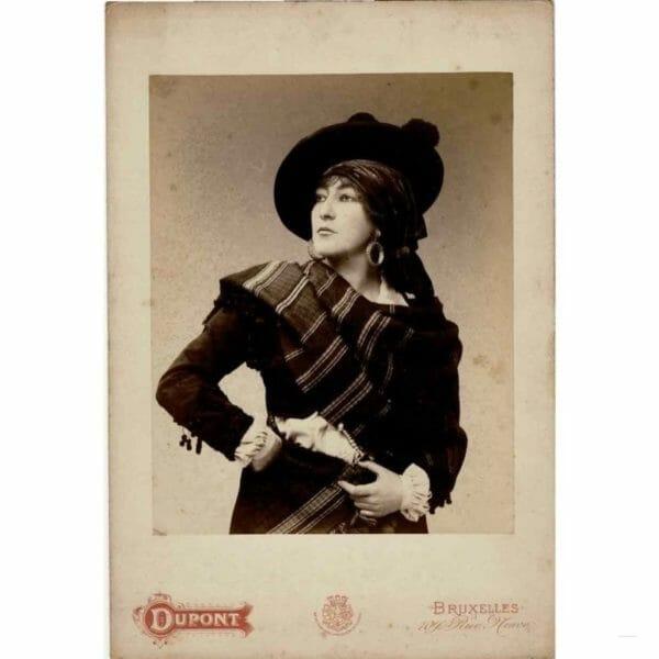 Georgette LEBLANC Bruxelles entre 1891 et 1900 Studio photo d'Henri Louis Aimé Dupont