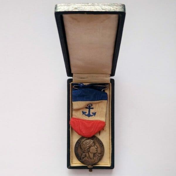 Médaille d'honneur des marins du commerce et de la pêche Premier modèle argent