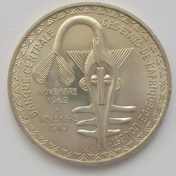 Monnaie de 5000 francs Banque États de l'Afrique de l'Ouest