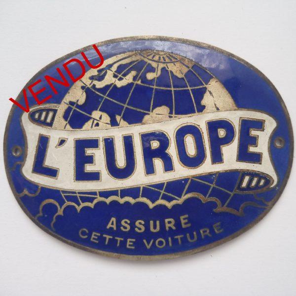 L'Europe assure cette voiture