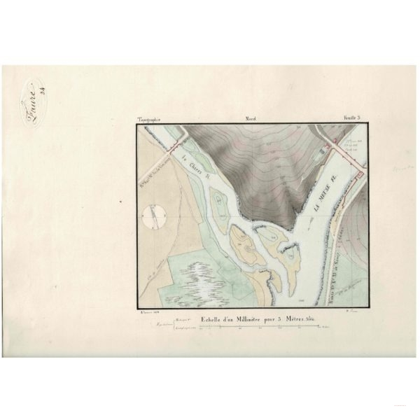 Carte Lavée1872 -commune de Remilly-Aillicourt