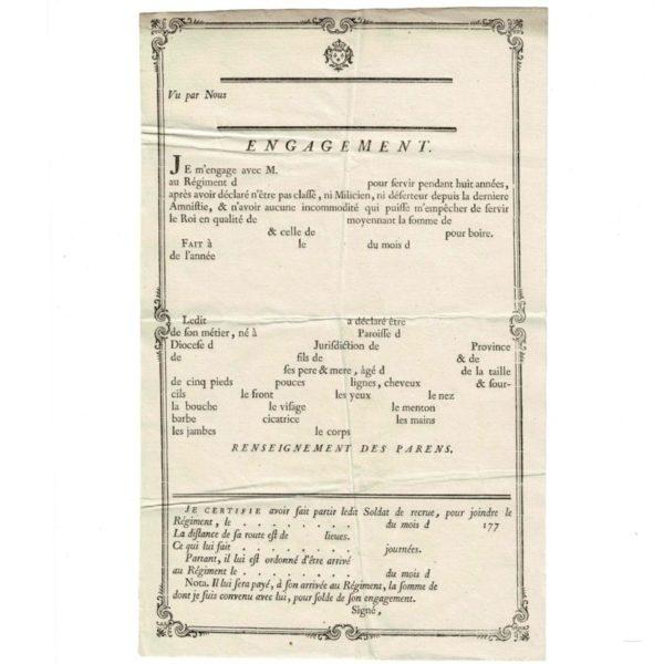contrat engagement volontaire 1771