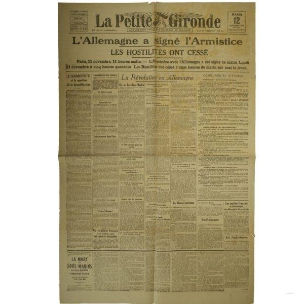La Petite Gironde 12 novembre 1918