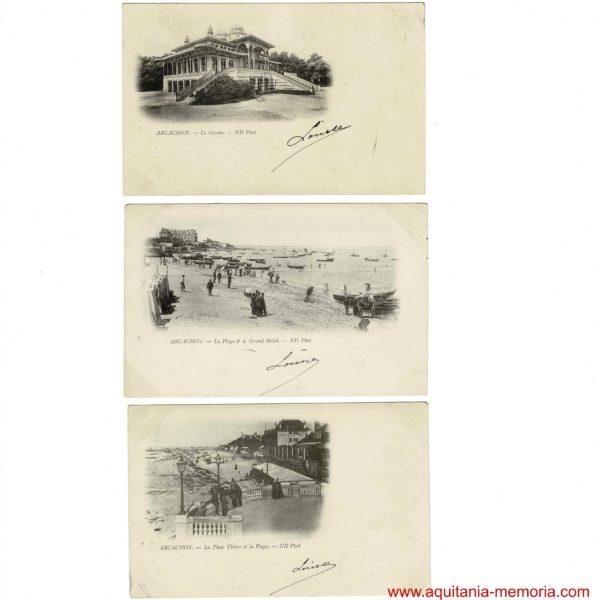 Cartes Postales d'Arcachon frères NEURDEIN.
