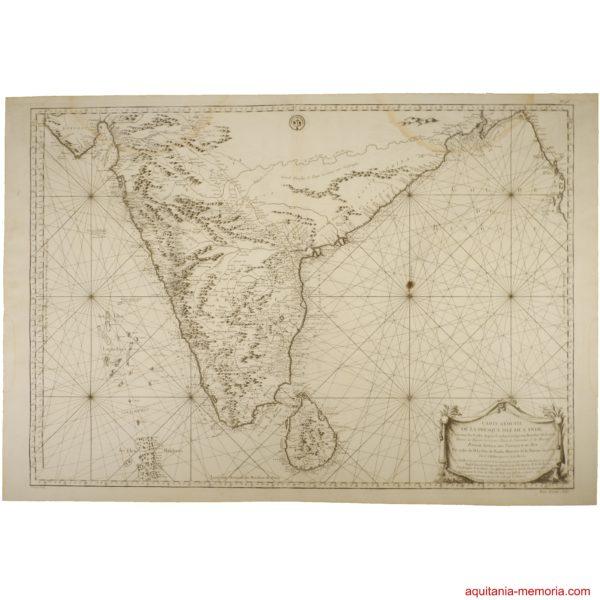 Carte Inde Nicolas Bellin