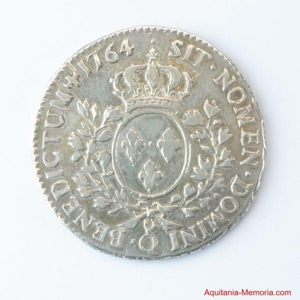 Monnaie Demi écu Louis XV 1764 Perpignan (Q)
