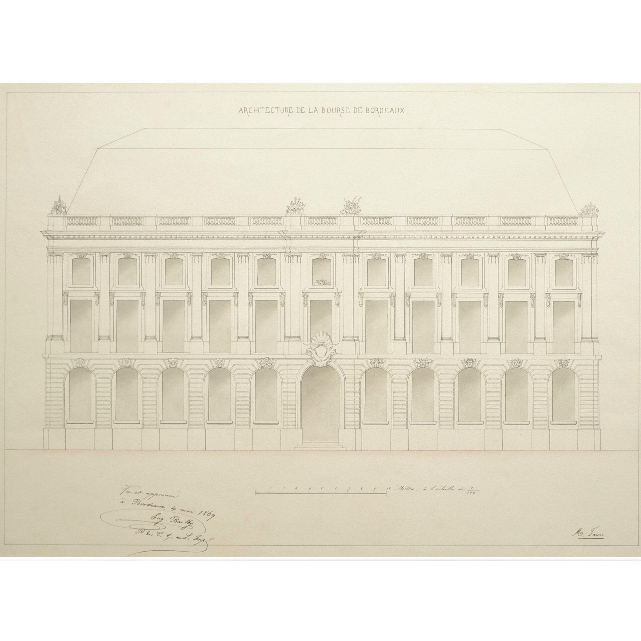 Palais de la bourse à Bordeaux