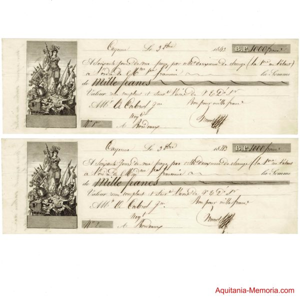 lettres de change 1843