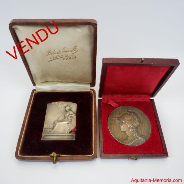 Médaille argent escrime